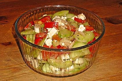 Gurken, Tomaten, Feta Salat 9