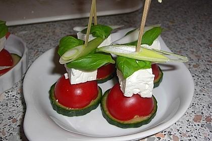 Gurken, Tomaten, Feta Salat 26