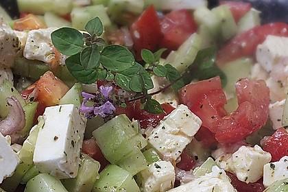 Gurken, Tomaten, Feta Salat 11
