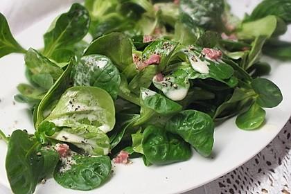 Feldsalat mit Sahne-Speck-Sauce 12