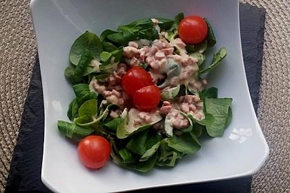 Feldsalat mit Sahne-Speck-Sauce 20