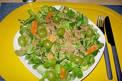 Feldsalat mit Sahne-Speck-Sauce 49
