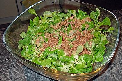 Feldsalat mit Sahne-Speck-Sauce 48