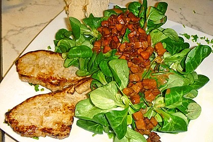 Feldsalat mit Sahne-Speck-Sauce 11