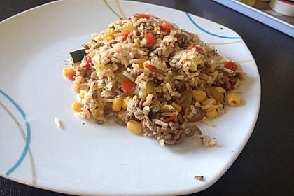 Zucchini - Gemüse - Pfanne mit Hackfleisch und Reis 6