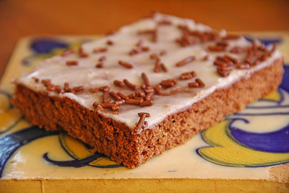 Schokoladenhonigkuchen Mit Zitronen Zuckerguss Von Jelllybellly