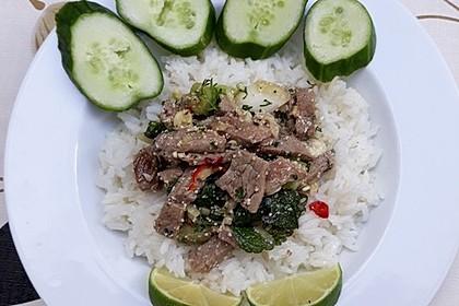 Thai - Rindfleisch - Salat mit Minze und Koriander (Waterfall-Beef-Salad) 1
