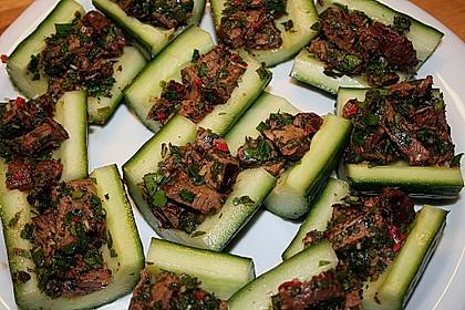 Thai - Rindfleisch - Salat mit Minze und Koriander (Waterfall-Beef-Salad) 2