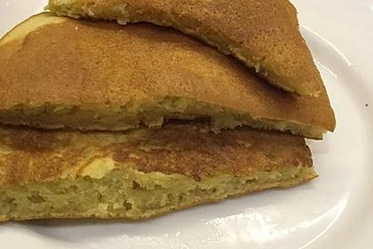 Süße dicke Eierpfannkuchen 4
