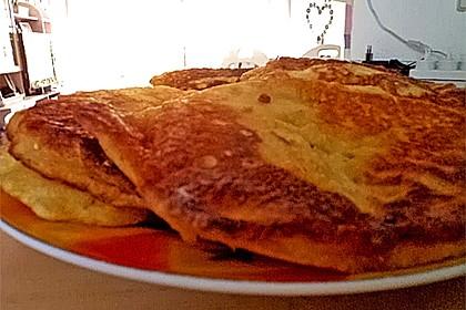 Süße dicke Eierpfannkuchen 9