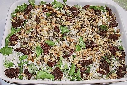 Nudelsalat, kernig, mit Rucola, Tomaten und Parmesan 3