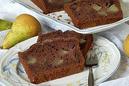 Birnen - Kakao - Kastenkuchen