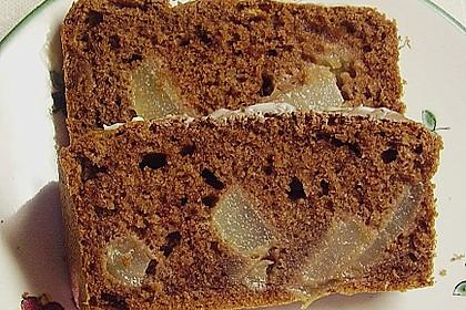 Birnen - Kakao - Kastenkuchen 3