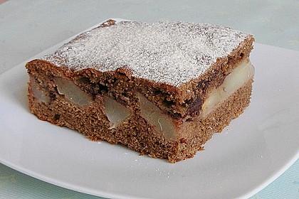Birnen - Kakao - Kastenkuchen 1