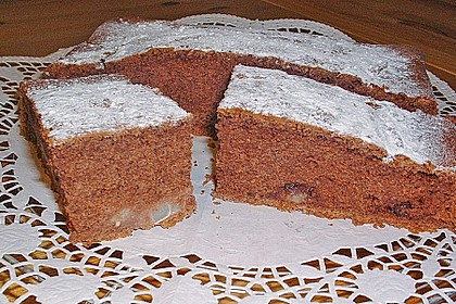 Birnen - Kakao - Kastenkuchen 17