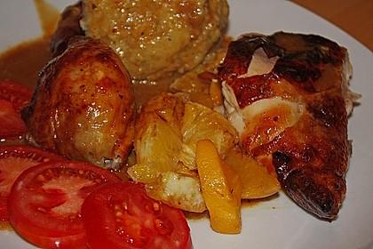 Huhn in Orangen - Honig - Sauce 1