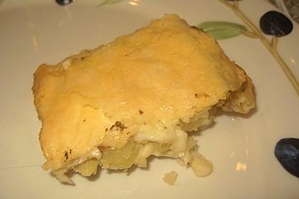 Kartoffelgratin mit Knoblauch und Zwiebeln