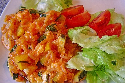 Mediterrane Zucchinipfanne