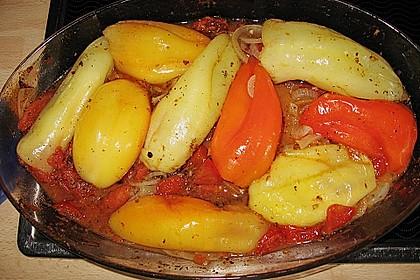 Türkische Paprika aus dem Backofen - sehr knackig 36