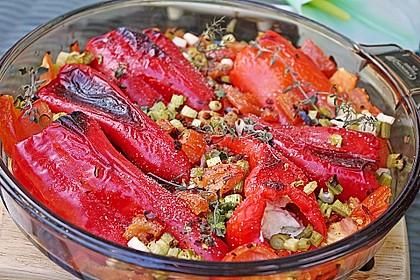 Türkische Paprika aus dem Backofen - sehr knackig