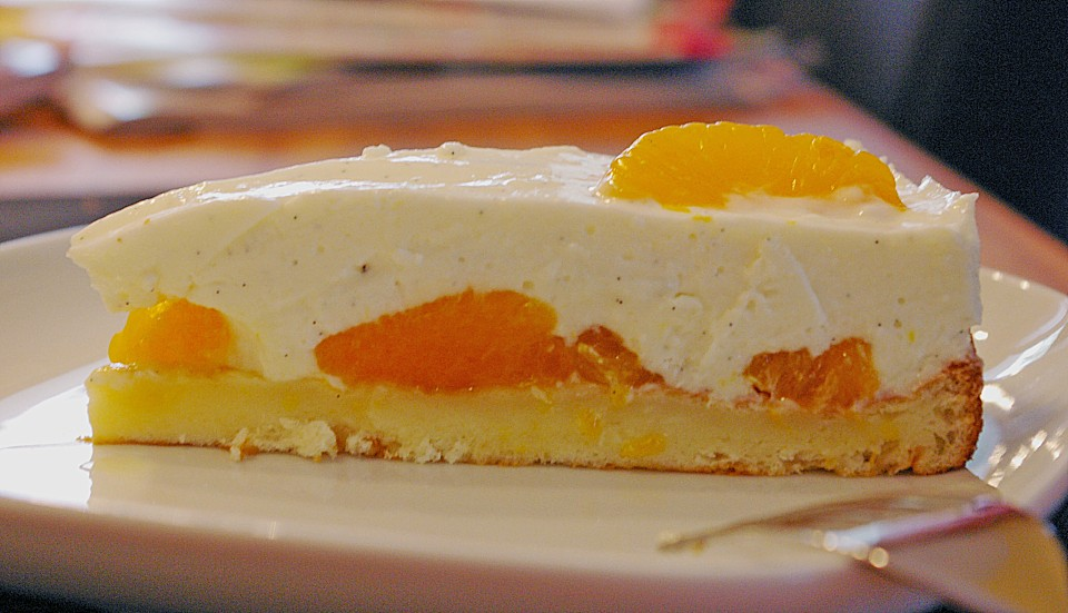 Quark Joghurt Sahne Torte Mit Mandarinen Von Menoja Chefkoch De