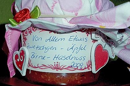 Zwetschgen - Äpfel - Birnen - Haselnuss - Marmelade 9