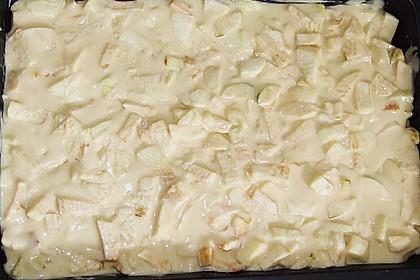 Apfelkuchen mit Pudding 11