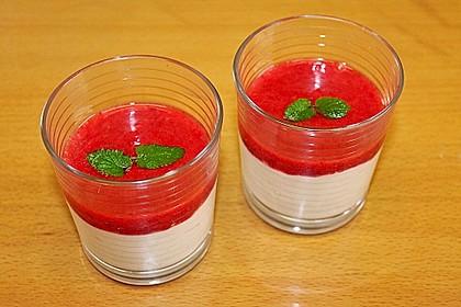 Apfelcreme mit Himbeersauce 2