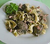 Mediterrane Hähnchenleber mit Spaghetti (Bild)