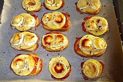 Gudruns Apfel-Speck-Ziegenkäsetürmchen mit Honig und Thymian 60
