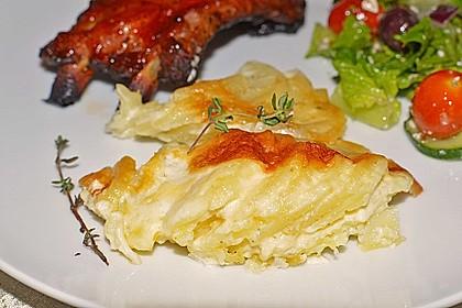 Kartoffelgratin mit frischem Thymian 5