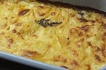 Kartoffelgratin mit frischem Thymian 4