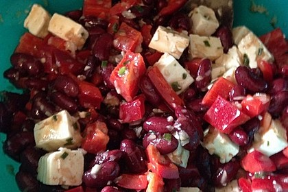 Rote Bohnen - Schafskäse - Salat 11