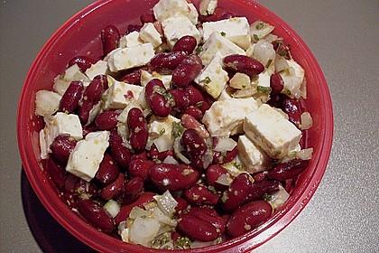 Rote Bohnen - Schafskäse - Salat 6