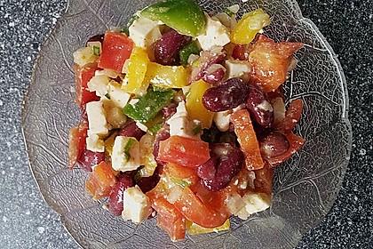 Rote Bohnen - Schafskäse - Salat 8
