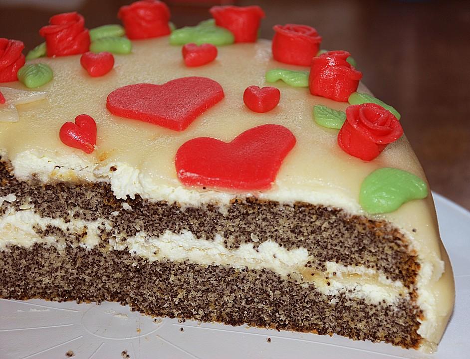 Mohn Marzipan Torte Von Luna1310 Chefkoch De