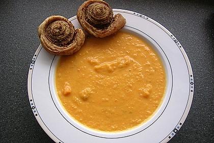 Süßkartoffel - Apfel - Suppe mit Curry 1