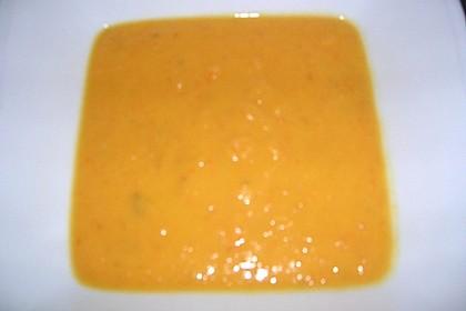Süßkartoffel - Apfel - Suppe mit Curry 5