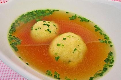 Bröselknödel Suppe 6