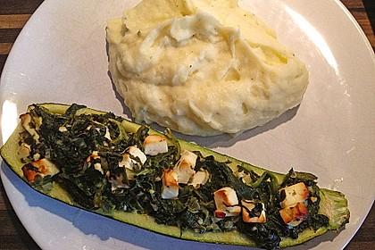 Zucchini mit Ziegenkäse - Spinat - Füllung 4