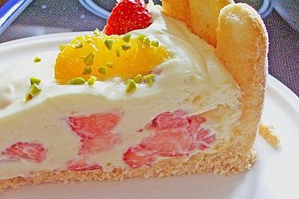 Philadelphia Torte Erdbeer - Orange