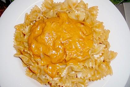 Garnelen in fruchtig, scharfer Sauce auf Nudeln 18
