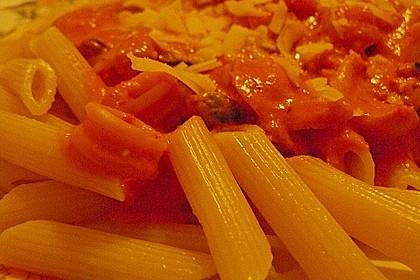 Garnelen in fruchtig, scharfer Sauce auf Nudeln 20