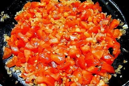 Garnelen in fruchtig, scharfer Sauce auf Nudeln 15
