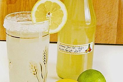 Zitronen - Sirup mit Pfefferminze und Zitronenmelisse 2