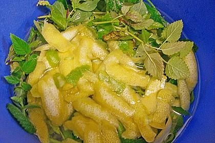 Zitronen - Sirup mit Pfefferminze und Zitronenmelisse 9
