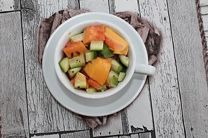 Papaya - Gurken - Salat 5
