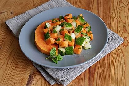 Papaya - Gurken - Salat 1
