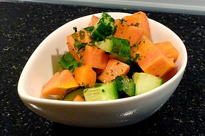 Papaya - Gurken - Salat