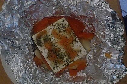 Gebackener Schafskäse mit Baguette